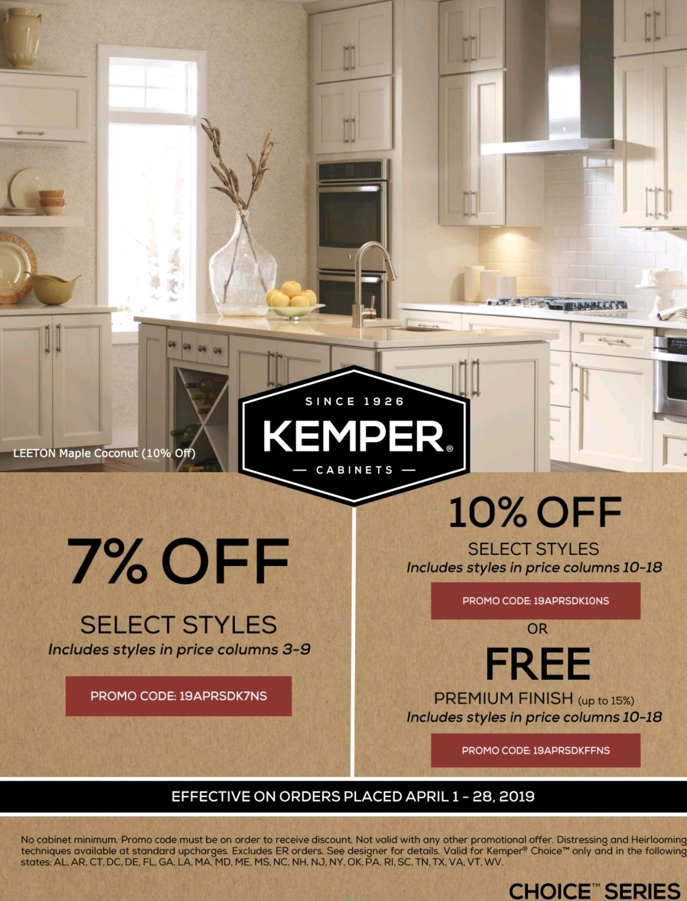 Kemper Choice Cabinetry S Huge Spring Savings 7 10 Off Select