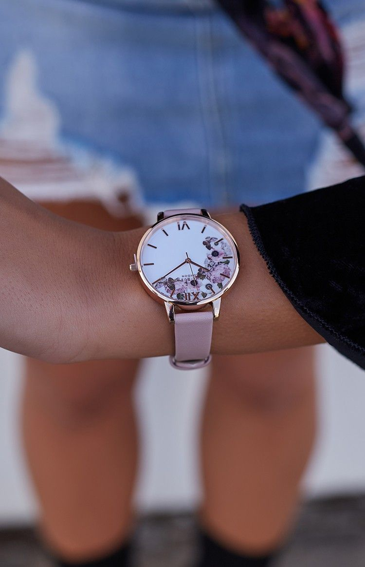 5d468bc780d8 Adorn your wrist with the ever-enchanting Olivia Burton Enchanted Garden  Rose Sand and Rose