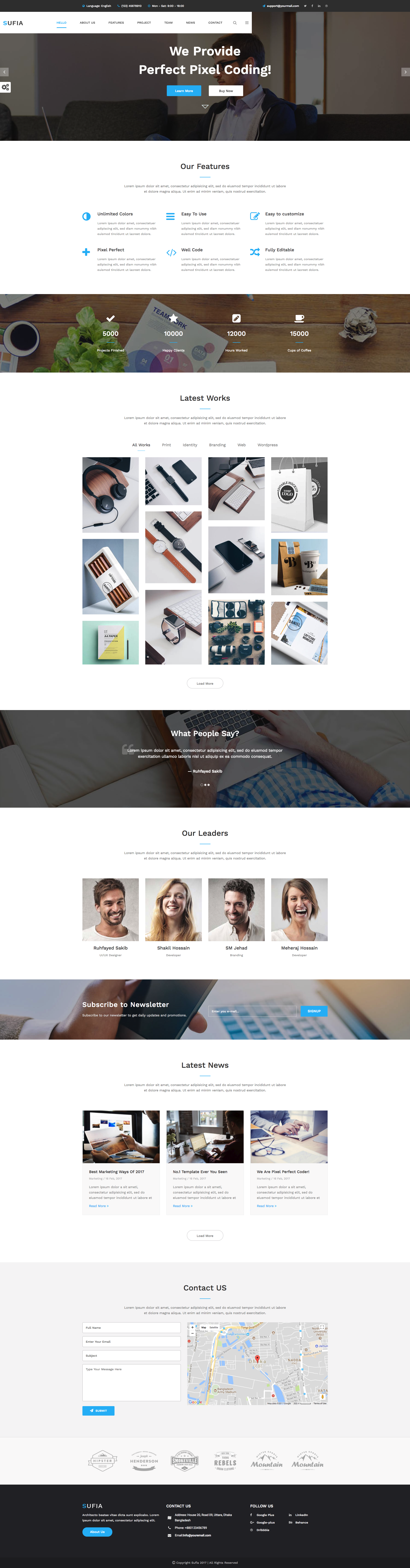 Sufia - Responsive Multipurpose HTML5 Template. This is a ...