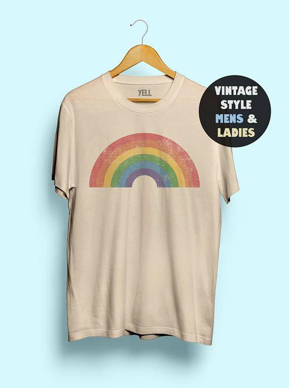 43efcc805fb6 Vintage Rainbow Shirt Tshirt Tee Gay AF Tshirt Tee Shirts LGBT Shirt LGBTQ  Lesbian Shirt Men Women Cute Funny 70s Pride 1970s Gay