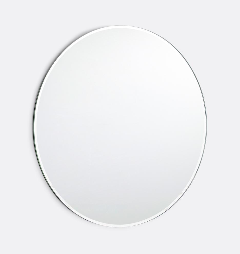 24 Round Frameless Mirror Frameless Mirror Frame Wall Decor
