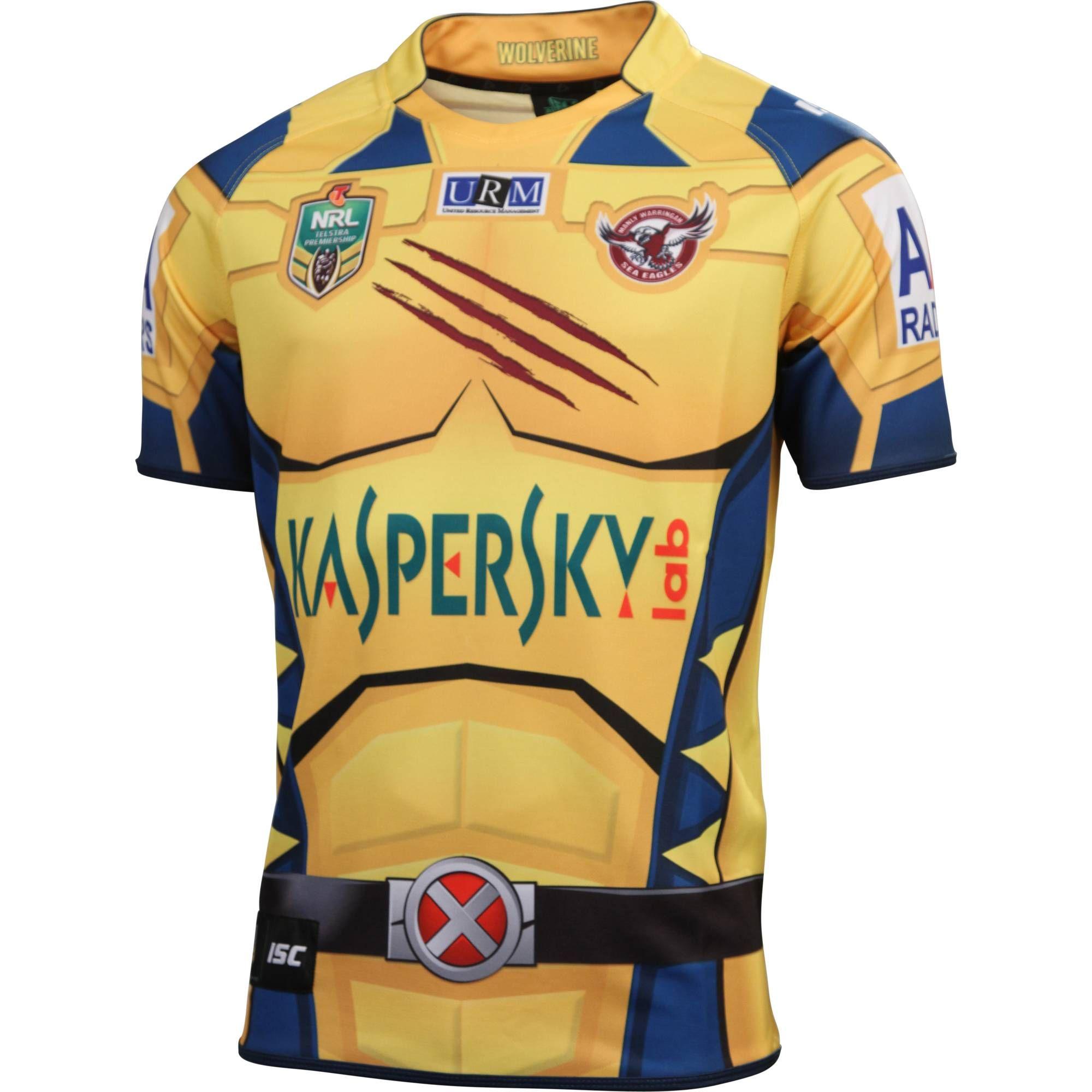 Manly Warringah Sea Eagles 2014 Men s Wolverine Jersey - NRL Megastore 79f7c5cd5