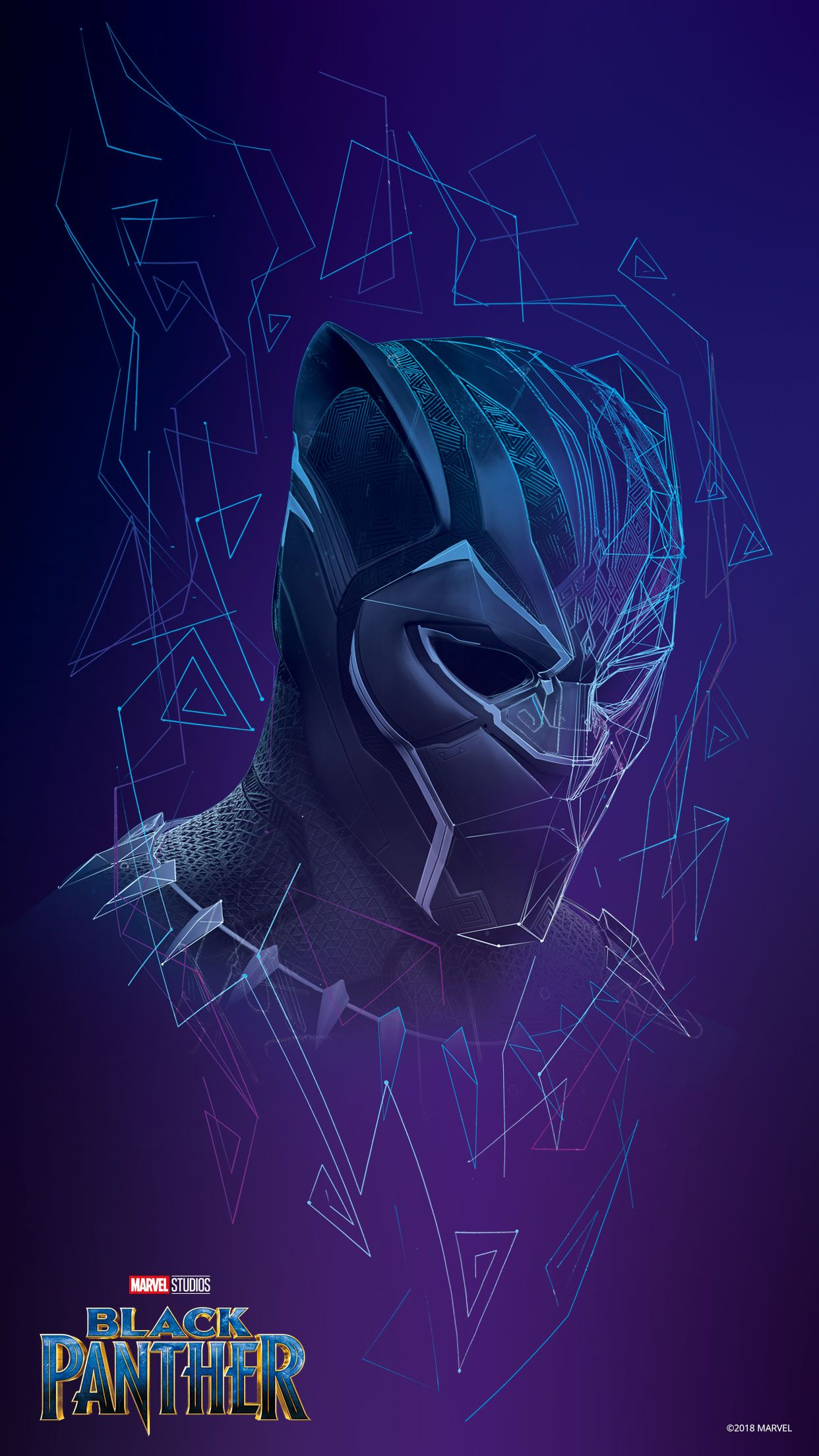 Black Panther Official Wallpaper From Disney ブラックパンサー