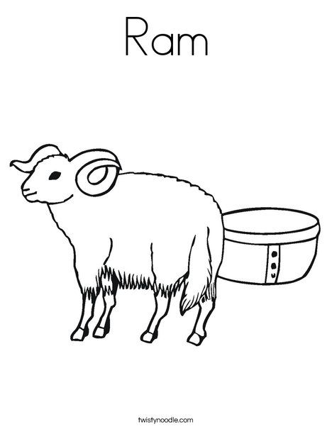 Ram Coloring Page Twisty Noodle Animal Coloring Pages