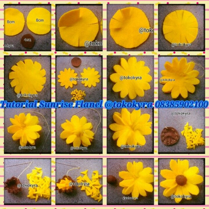 Tutorial Bros Sunrise Flanel Bunga Kain Bunga Kertas Tisu Bunga Kertas