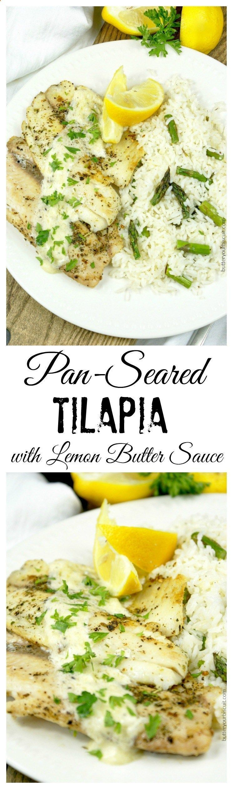 Photo of This Pan-seared Tilapia with Lemon Butter Sauce recipe is full of flavor. Ready …