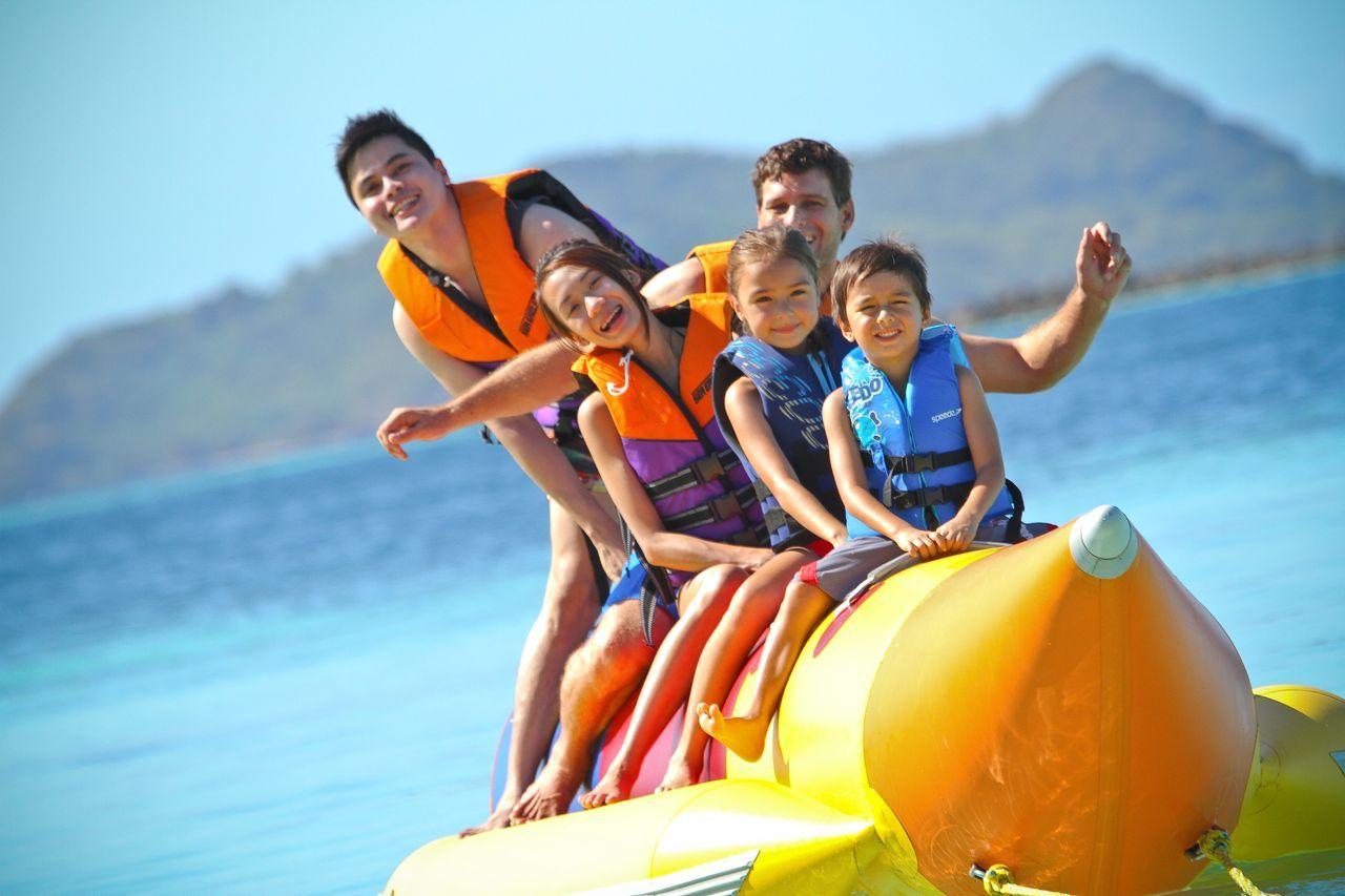 We Call This The Banana Boat Ride Luxury Resort Hotels Coron Island Island Resort