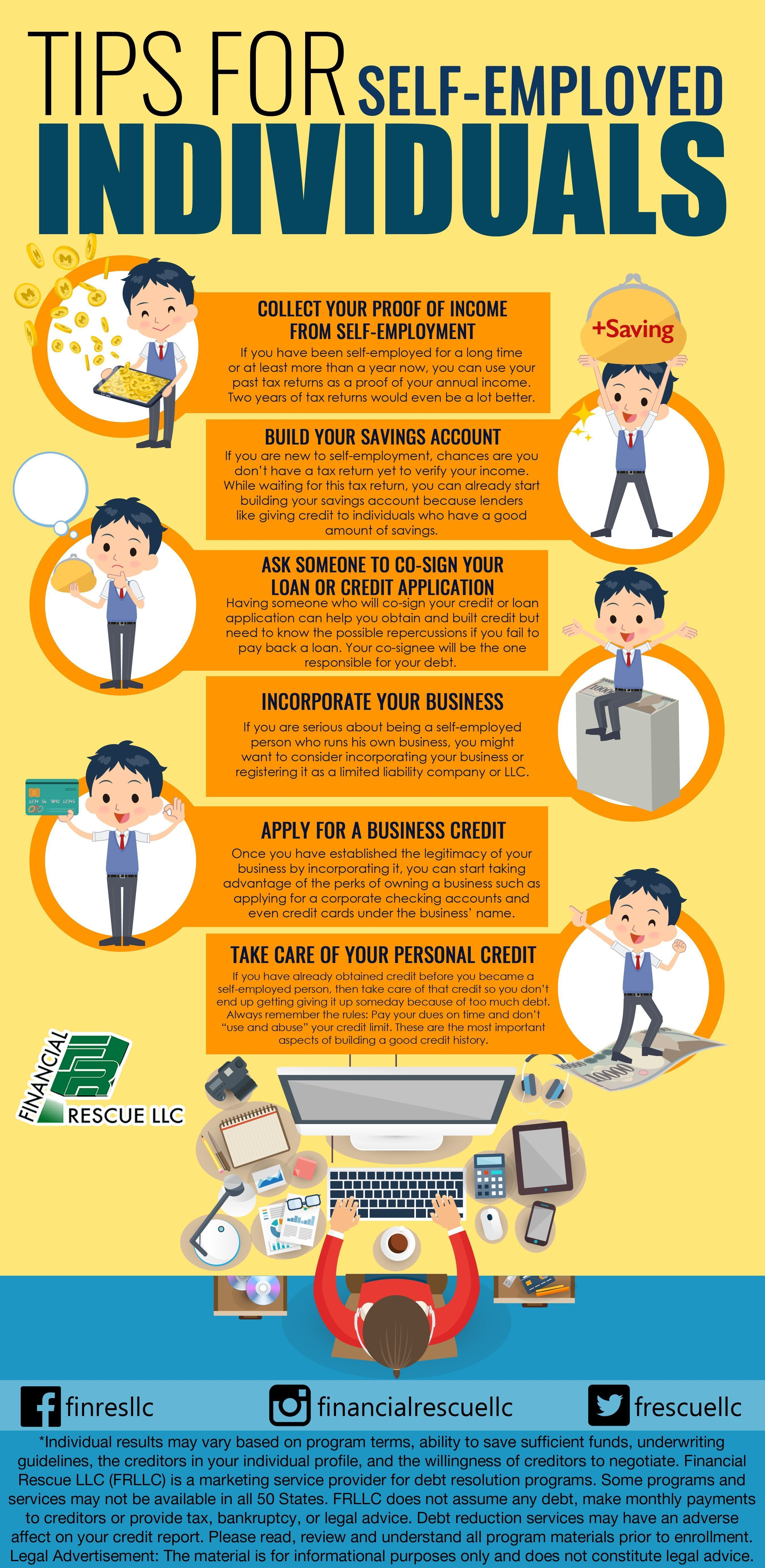 building and getting credit: tips for self-employed individuals