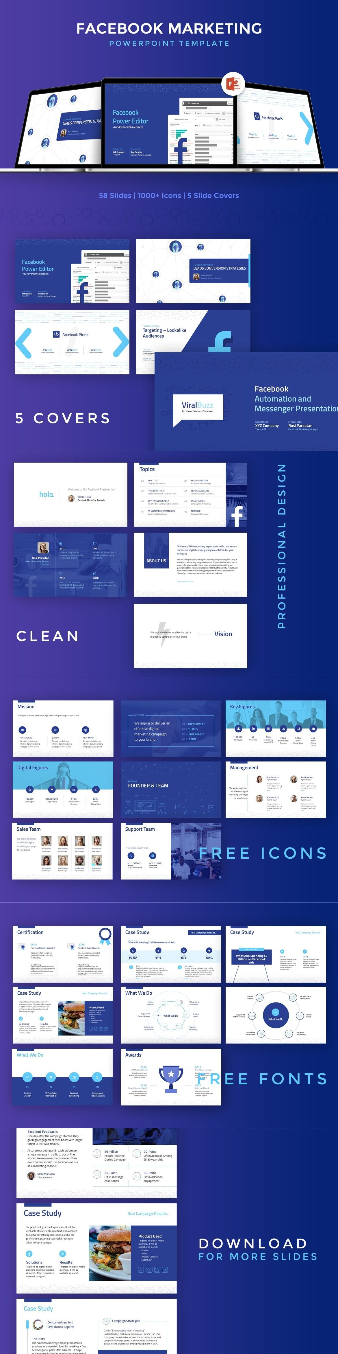 facebook marketing powerpoint template powerpoint presentation