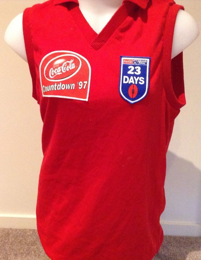 1b45f1b1728 AFL Footy Collectible Jumper Guernsey Coca Cola Countdown Grand Final 1997  Rare