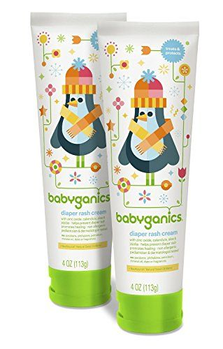 Babyganics Diaper Rash Cream, 4oz Tube (Pack of 2 ...