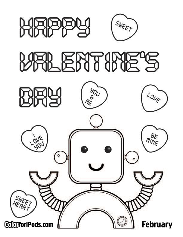 valentines coloring pages valentines day coloring pages - Valentine Coloring Pages For Kids