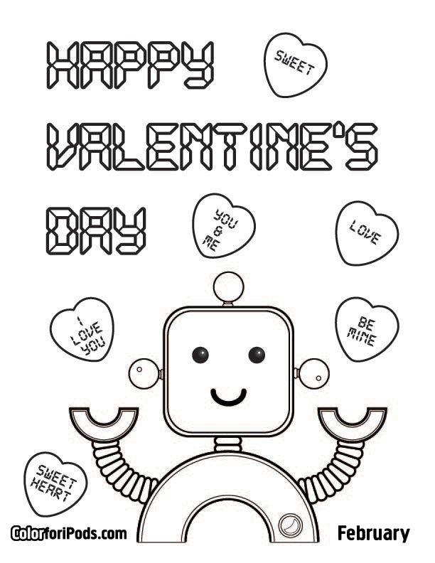 Happy Valentine S Day Valentine Coloring Valentines Day Coloring Page Valentine Coloring Pages