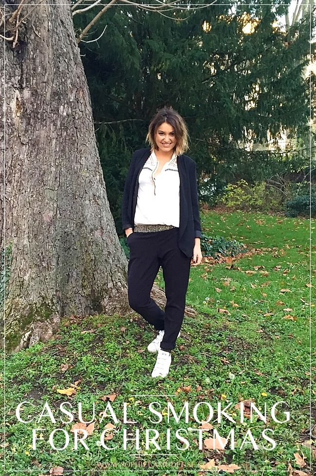 [On aime] Casual smoking for christmas - Sophie la modeuse @sophielamodeuse