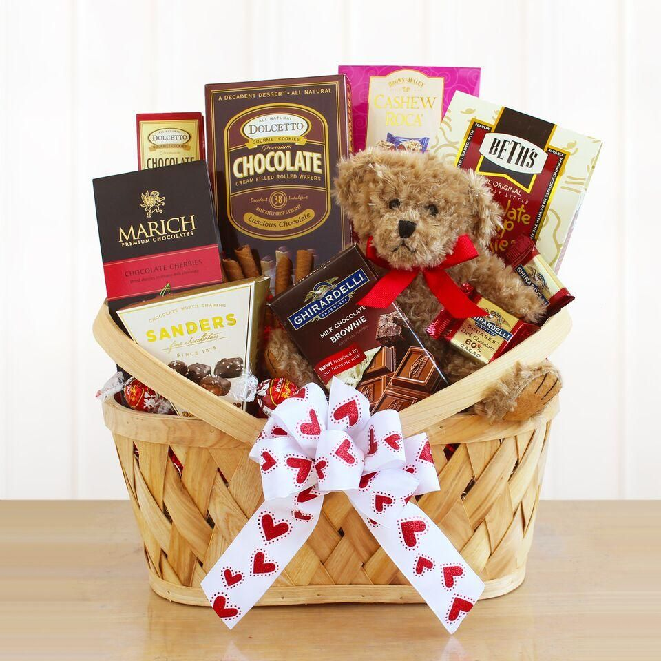 fc96e28454 Bearing Chocolate Gifts Basket | Products | Valentine gift baskets ...