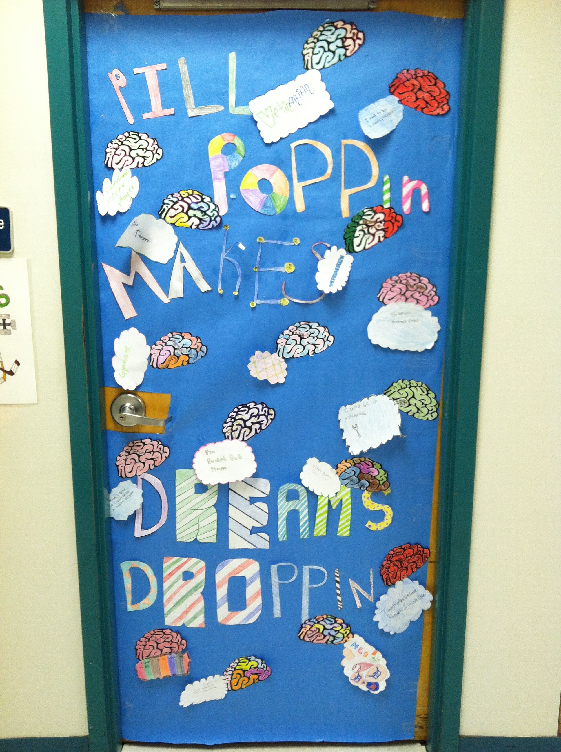 Red Ribbon Week Door Decoration Pill Poppin Makes Dreams