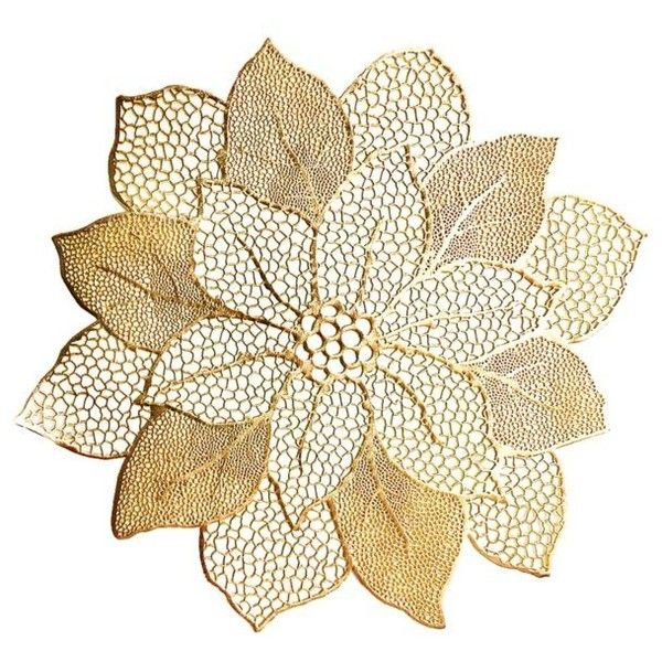 Benson Mills Poinsettia Pressed Vinyl Placemat 2 50 Liked On Polyvore Featuring Home Kitchen Dining Table Linens Be Poinsettia Table Linens Kitchen Dining