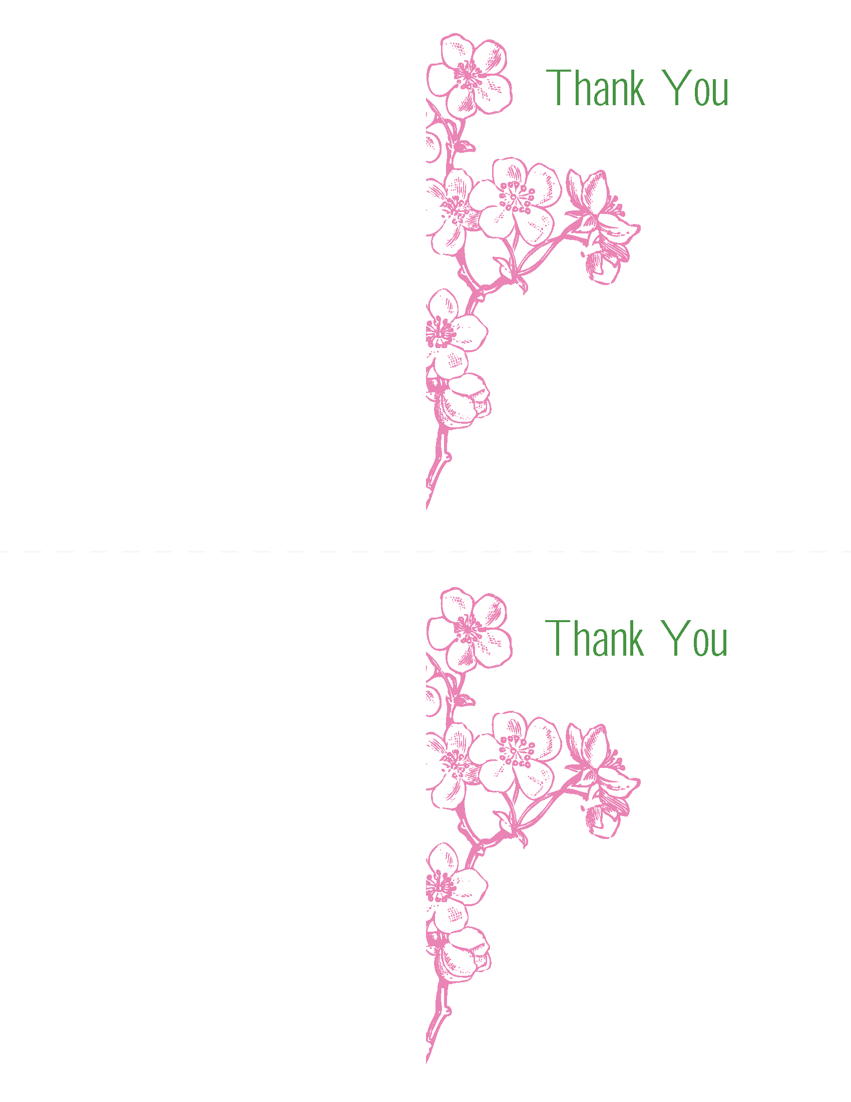 Thank You Cards Vintage Pink Cherry Blossom Invitation Template Kit Printable Kits Include Invites Rsvp's And More: Cherry Blossom Wedding Invitation Kit At Reisefeber.org