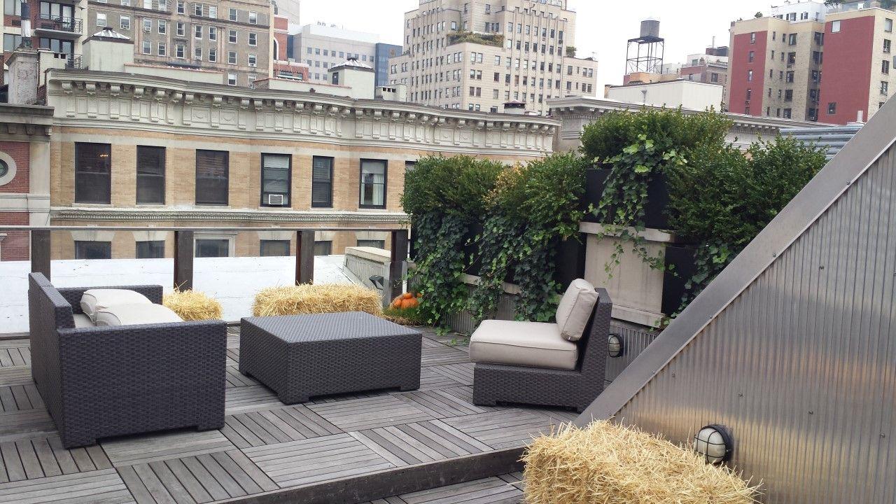 Beautiful terrace garden design by Greening Stone.