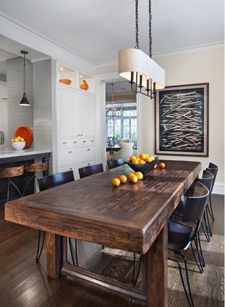 Pinterest - Rectangular farm dining table