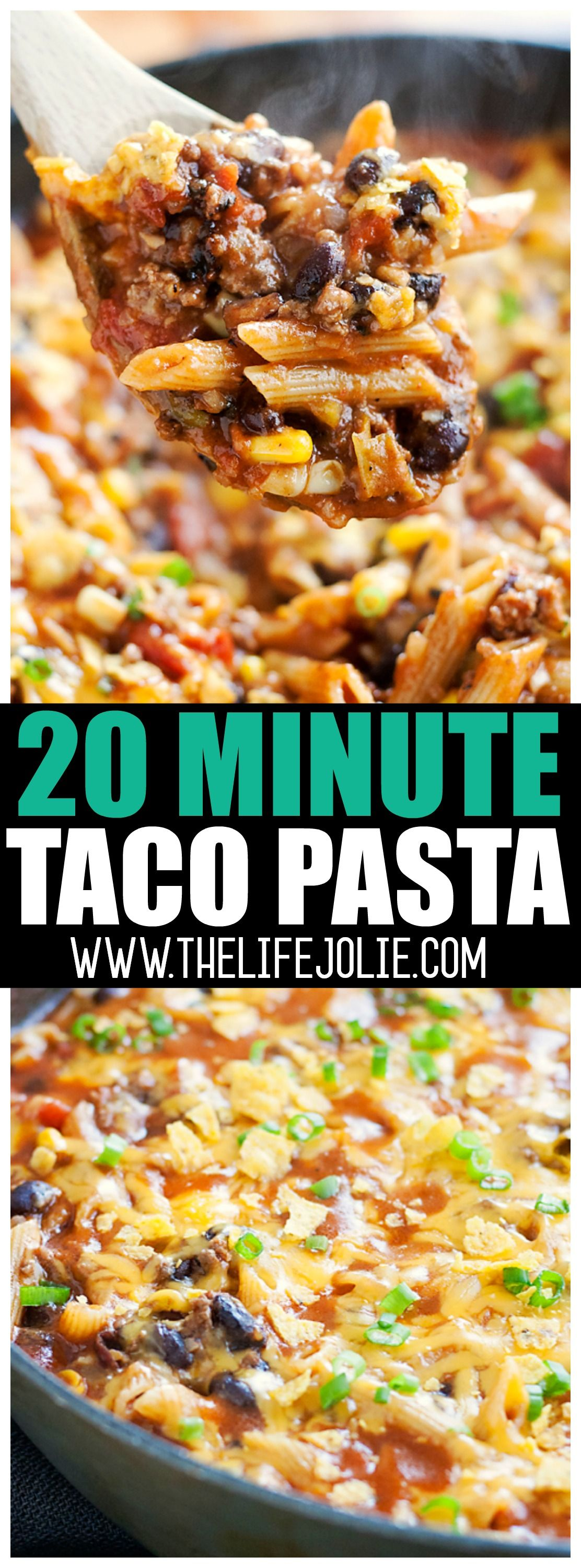 Taco Pasta  20 Minutes To An Easy Fulfilling Dinner