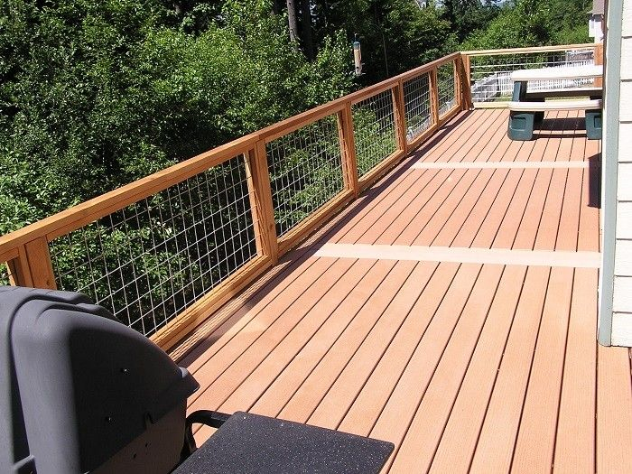 Pin hog wire railing for deck on pinterest doin s