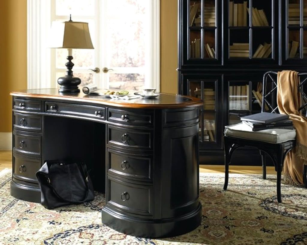 Black Desks For Home Office Modern Blue And Black Home Office With