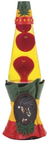 Lava Lite Bob Marley 3D Lava Lamp W/ Sculpted Resin Flag Base U0026 Cameo Frame