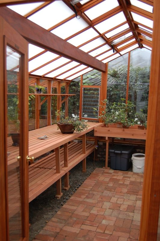 Interior Of The 12x16 Garden Deluxe Greenhouse Roof Has