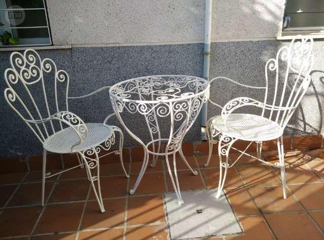 Mesa y sillas hierro forjado foto 1 muebles de hierro - Mesas cocina vintage ...