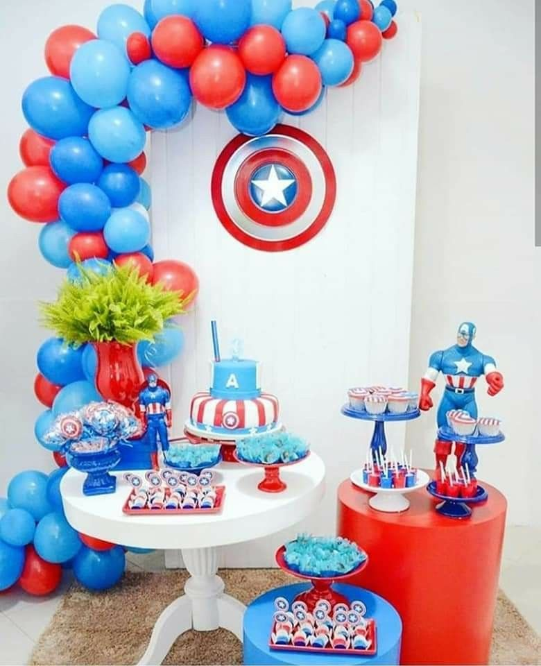 Pin By Araceli Lezama On Globos Captain America Birthday Party Avenger Birthday Party Captain America Birthday
