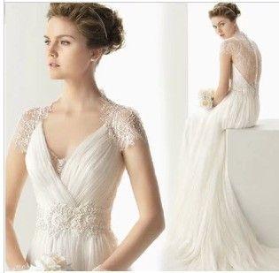 Primavera/Verão fio novo de alta qualidade cristal v profundo pescoço Halter casamento vestidos de um ombro noiva sexy nova 2014