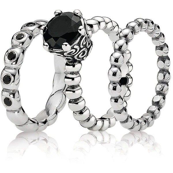 bb96d0bef PANDORA Ring Gift Set - Midnight Enchantment ($150) found on Polyvore