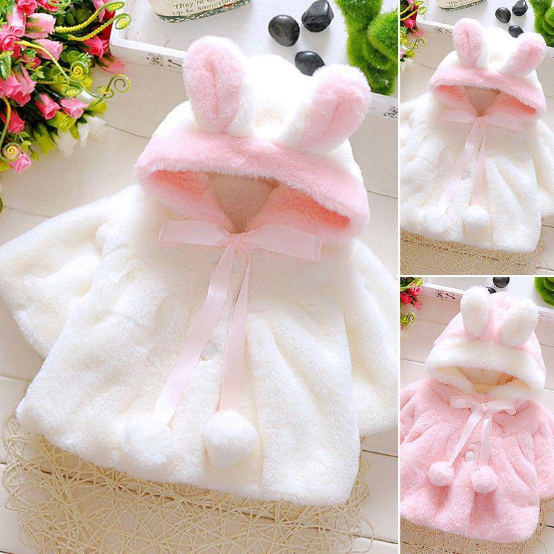dff6e90e9fe8 Baby Kids Winter Warm Fur Coat Newborn Long Sleeve Girl Soft Thick ...