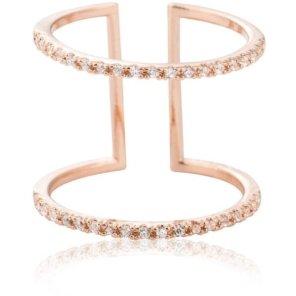 Astrid Miyu Double Bewitched Ring in Rose Gold 1455 EGP