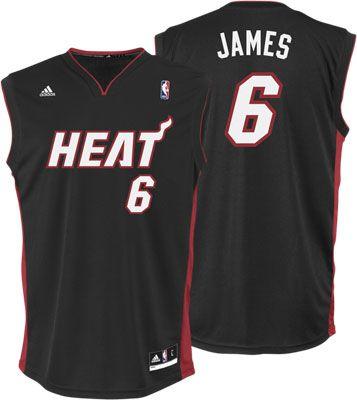 326d654ac miami heats 6 lebron james black red black jerseys wholesale