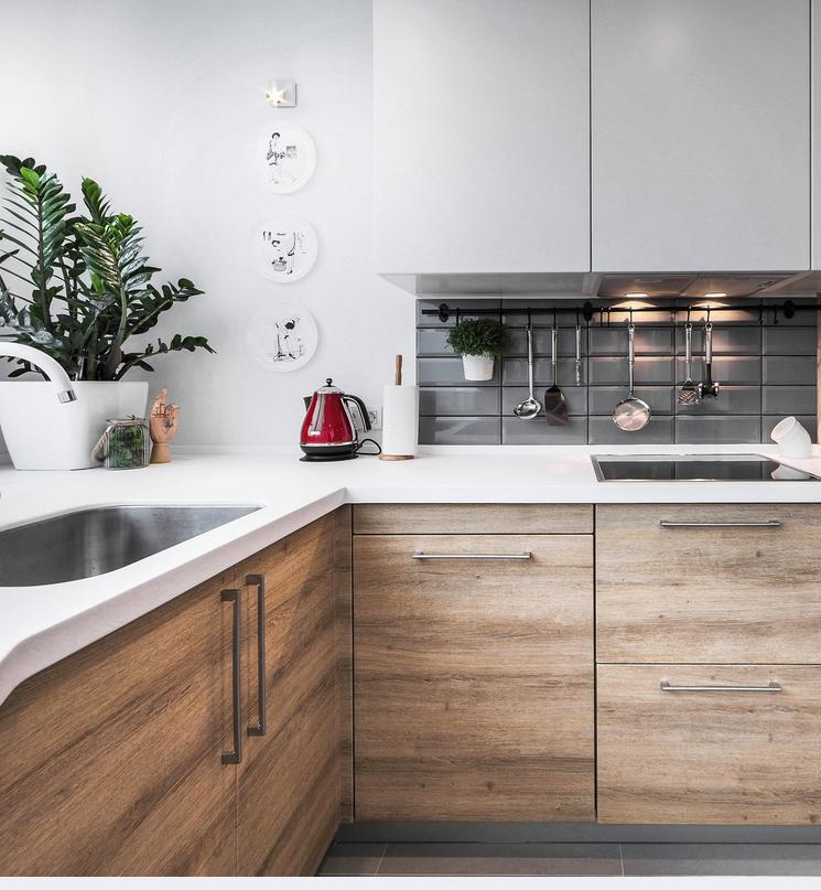 Угловая кухня в стиле лофт 6 кв. метров