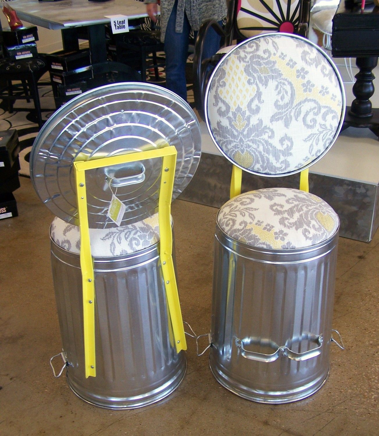 Stool - The Chartreuse Garage Trash Cans Jack u0026 Zenny by jrpummel. What a creative & Stool - The Chartreuse Garage Trash Cans Jack u0026 Zenny by jrpummel ... islam-shia.org