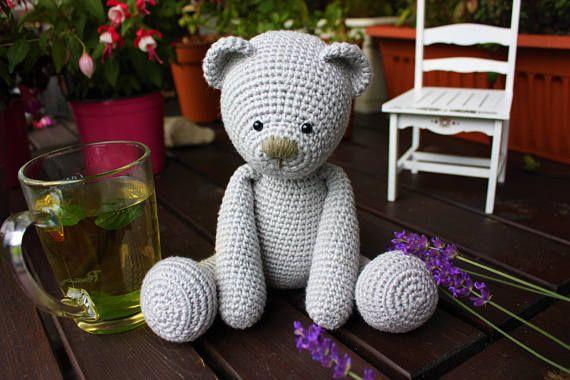 Amigurumi Crochet Patterns Teddy Bears : Crochet amigurumi teddy bear pattern lucas the teddy crochet