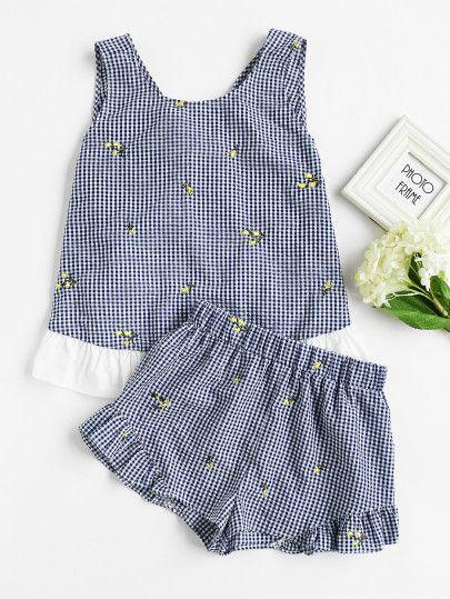 Short Set Kids clothes 2pcs bébé filles floral sans manches chemisier Tops