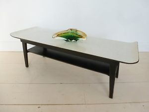 vintage retro 50s 60s meyer winged formica coffee table w/magazine