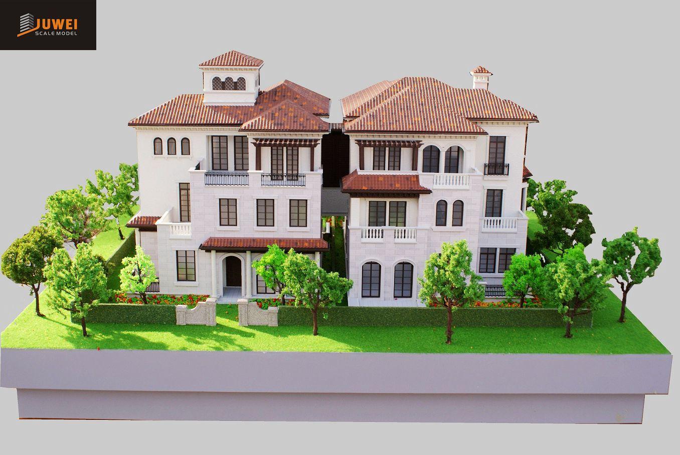 Architectural Scale Model Making, 1: 50 Villa Model (JW-254