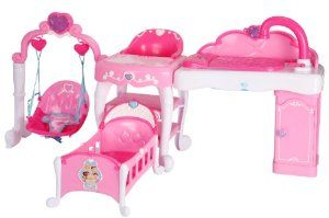 Disney Princess Playcenter By Tolly Tots 73 99 Crib Swing And Highchair Fits Dolls Up To 16 Doll Little Girl Toys Baby Doll Nursery Baby Doll Furniture