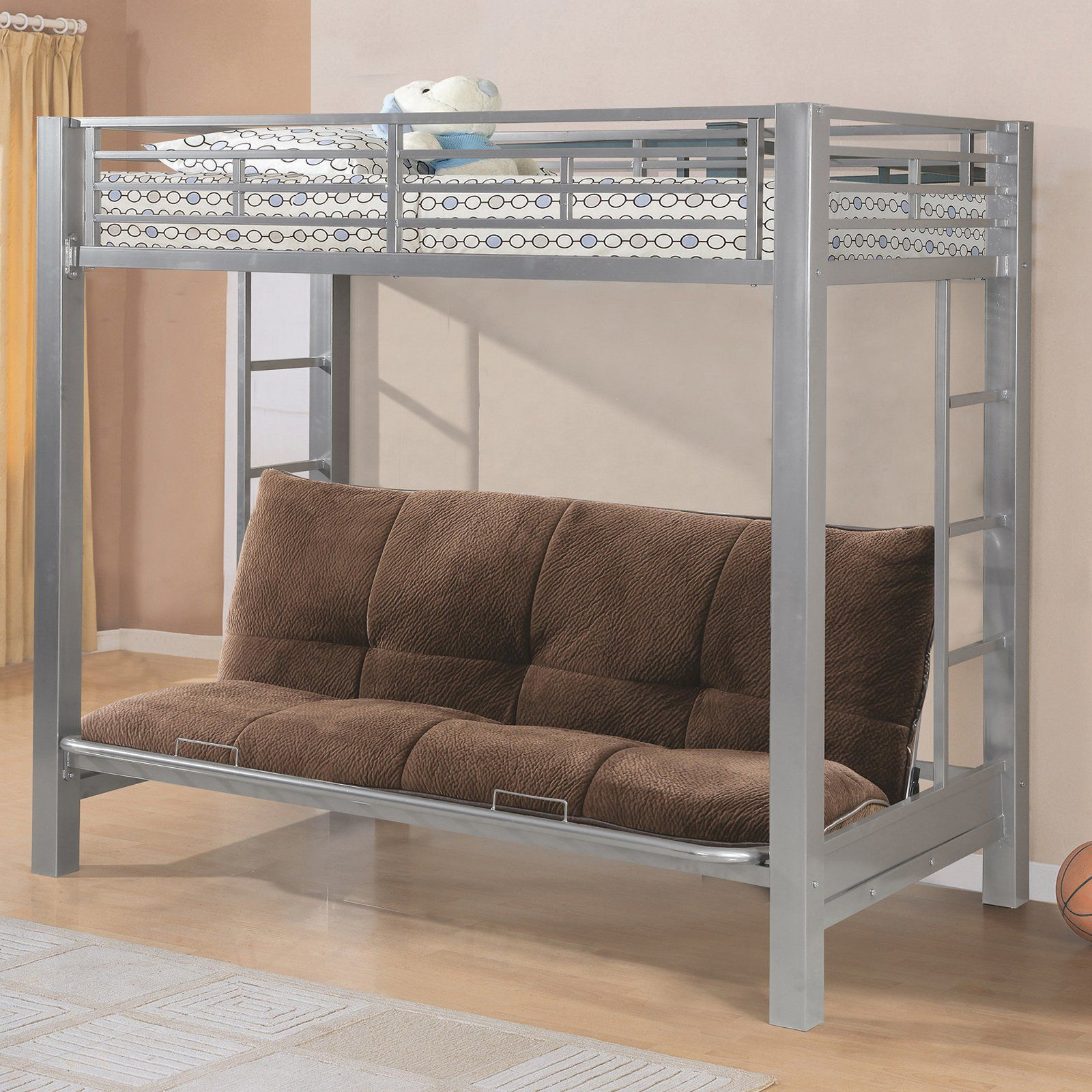 Home Source Industries Twin Over Futon Bunk Bed from