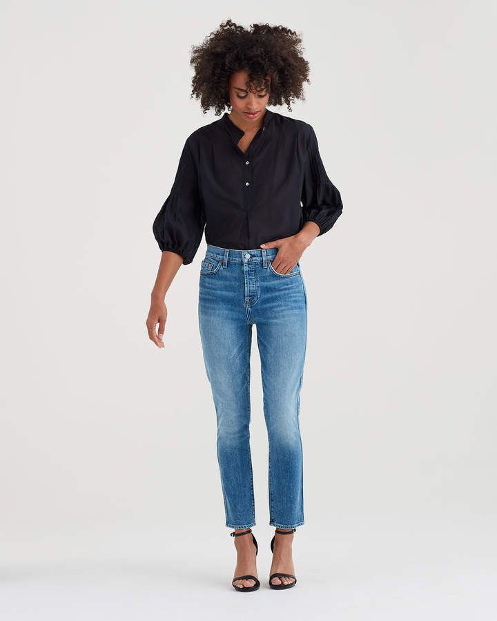 b8ad6e0d00e1 7 For All Mankind Edie with Grinded Hem in Desert Oasis   Products ...