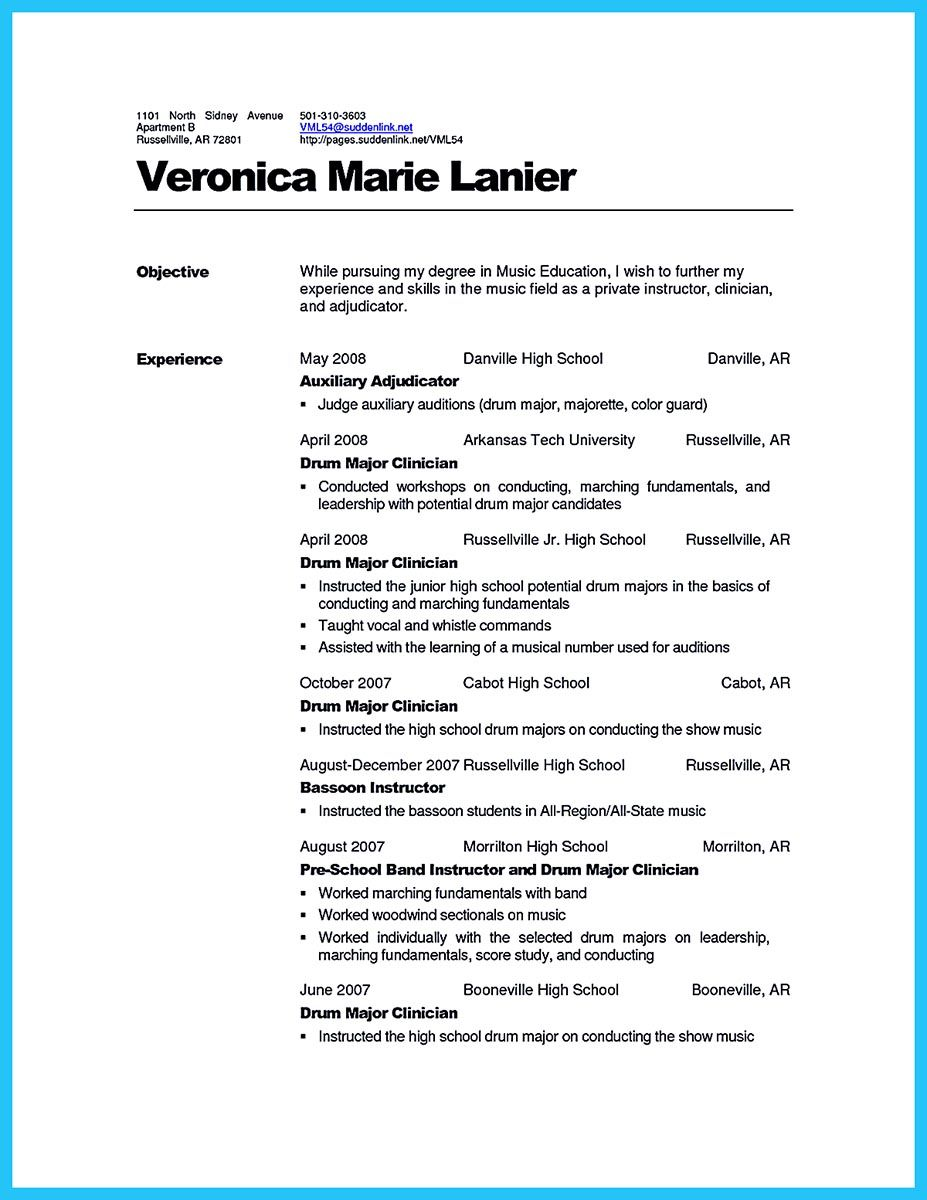 Casting Resume Basics - Today Manual Guide Trends Sample •