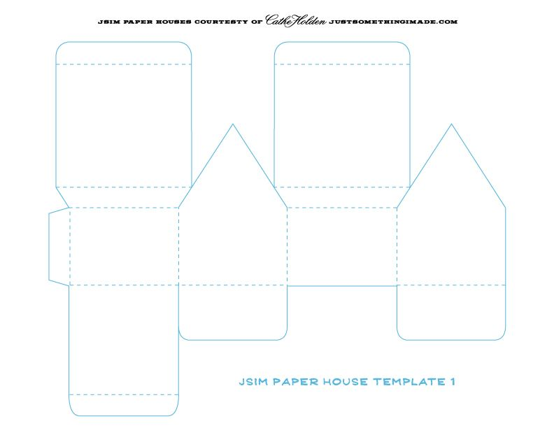 Paper House Template  Papel    Paper Houses House