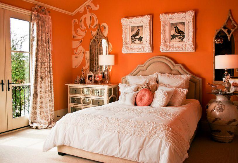 Orange Bedroom Accessories With Images Orange Bedroom Decor