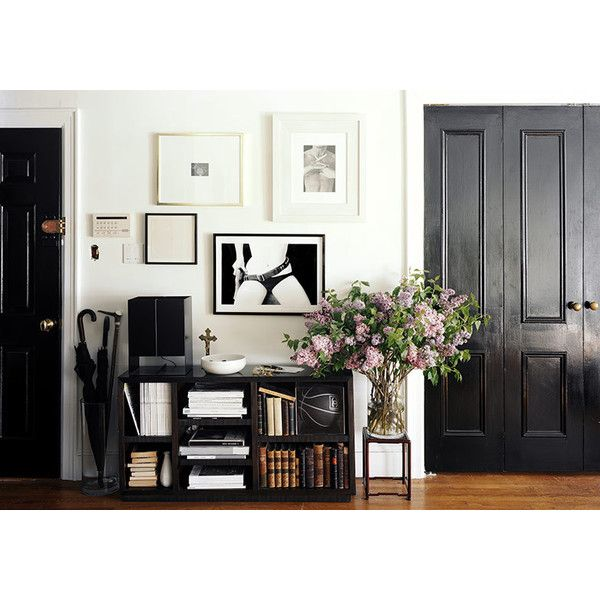 Black doors ❤ liked on Polyvore featuring backgrounds, pictures, photos, interior and home