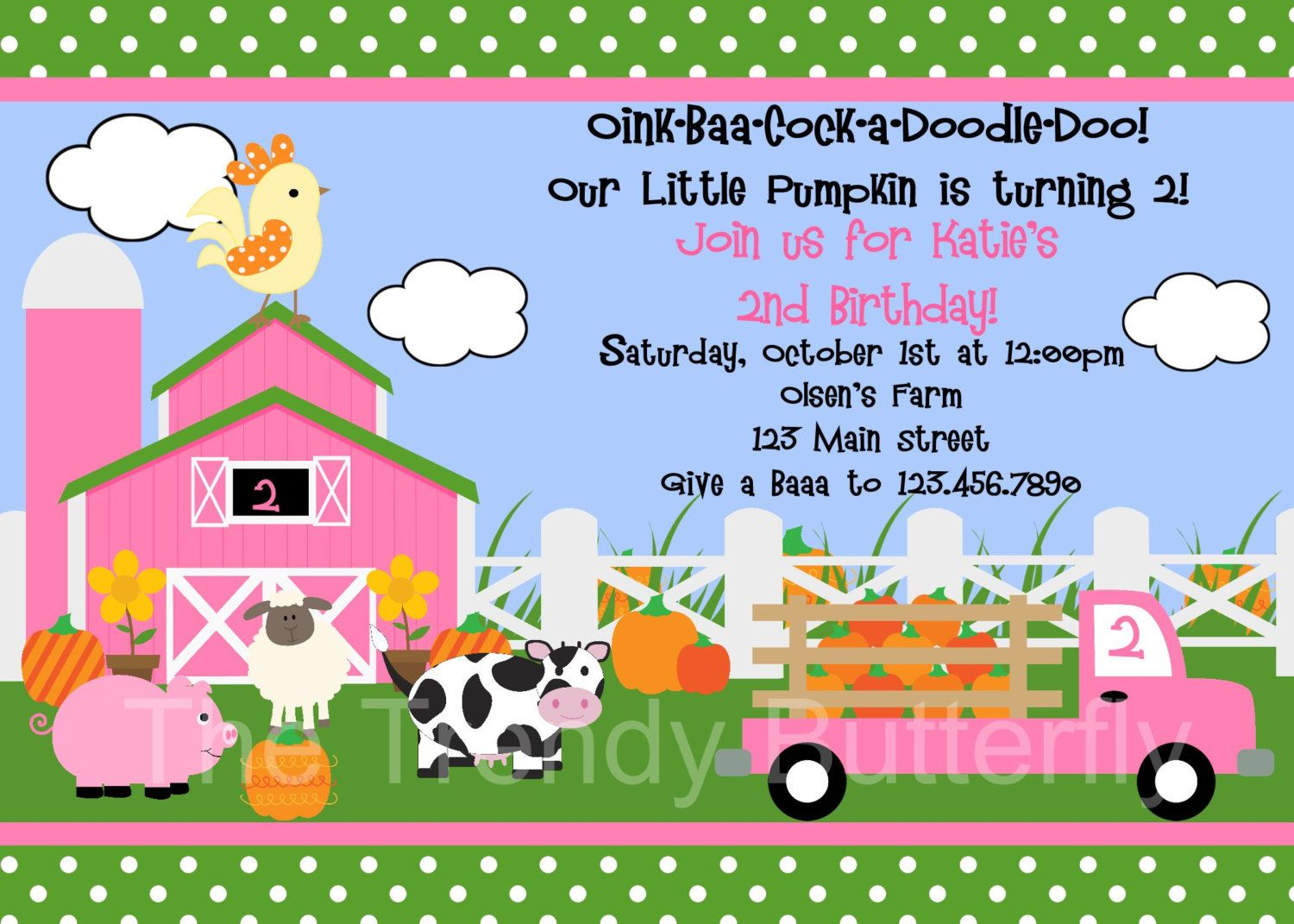 Pumpkin Fall Farm Invitation Pumpkin Birthday Party Invite Printable ...